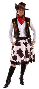 Ladies Cowgirl Fancy Dress Costume
