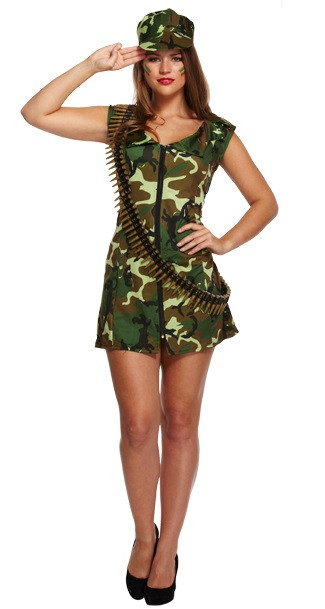 Ladies Army Girl Fancy Dress Costume. Image 1  sc 1 st  Fancy Me Limited : army fancy dress costumes  - Germanpascual.Com