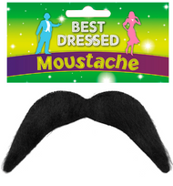 Mens Stick On Black Moustache