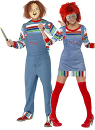 Couples Chucky Fancy Dress Costumes
