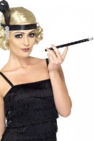 Ladies Black Sequinned 1920s Cigarette Holder