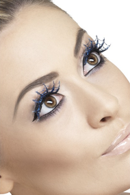 Ladies Glitter Spiderweb Eyelashes