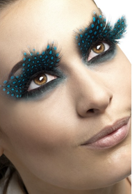 Ladies Aqua Dots Feather Eyelashes