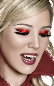 Ladies Black/Red Vampire Eyelashes