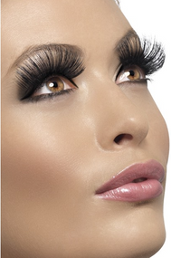 Ladies Long Black 60s Eyelashes
