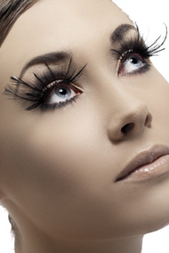 Ladies Black Feather Eyelashes