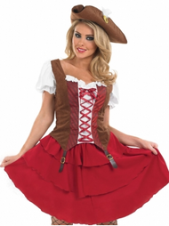 Ladies Deck Hand Pirate Fancy Dress Costume