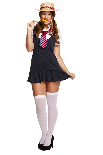 Ladies Sexy School Girl Fancy Dress Costume 2 - Fancy Me -8303