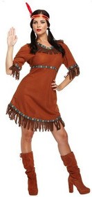 Ladies Native Indian Fancy Dress Costume