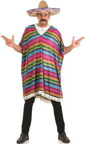 Mens Mexican Poncho Fancy Dress Costume