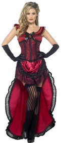 Ladies Red Brothel Babe Fancy Dress Costume