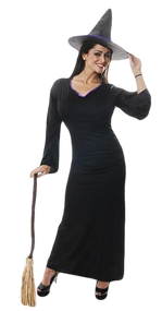 Ladies Classic Witch Fancy Dress Costume
