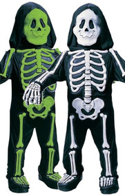 Boys Toddler Skeleton Fancy Dress Costume