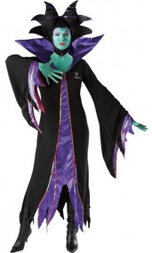 Ladies Disney Maleficent Fancy Dress Costume