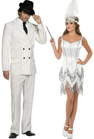Couples 1920s Gangster & Flapper Fancy Dress Costumes