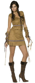 Ladies Fever Native Indian Fancy Dress Costume