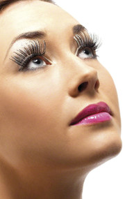 Ladies Black/Silver Holographic Eyelashes