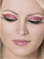 Ladies Black Eyelashes with Silver Glitter