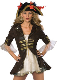 Ladies Deluxe Buccaneer Pirate Fancy Dress Costume