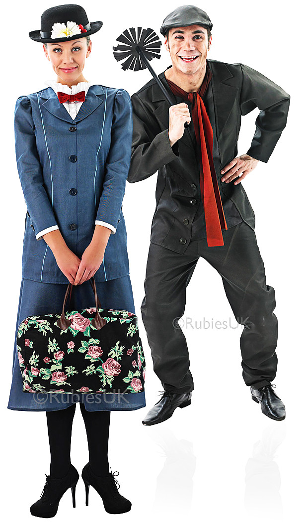 Couples Mary Poppins And Bert Fancy Dress Costumes Fancy