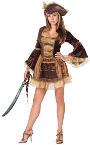 Ladies Victorian Pirate Fancy Dress Costume