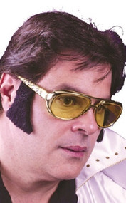 Mens 1950s Rock Star Glasses with Sideburns