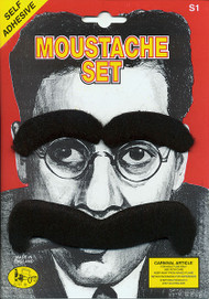 Mens Groucho Eyebrows & Moustache Set