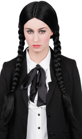 Ladies Plaited Black Wendy Wig