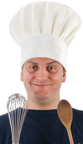 Adult White Chef's Fancy Dress Hat