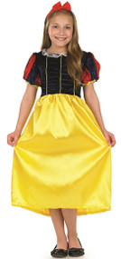 Girls Snow White Fancy Dress Costume