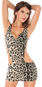 Ladies Animal Print Teddy