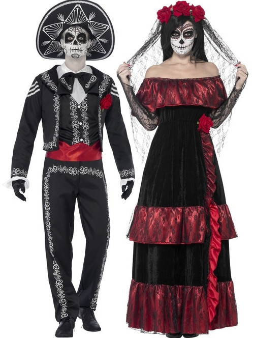 Couples Day of the Dead Costumes - Fancy Me Limited