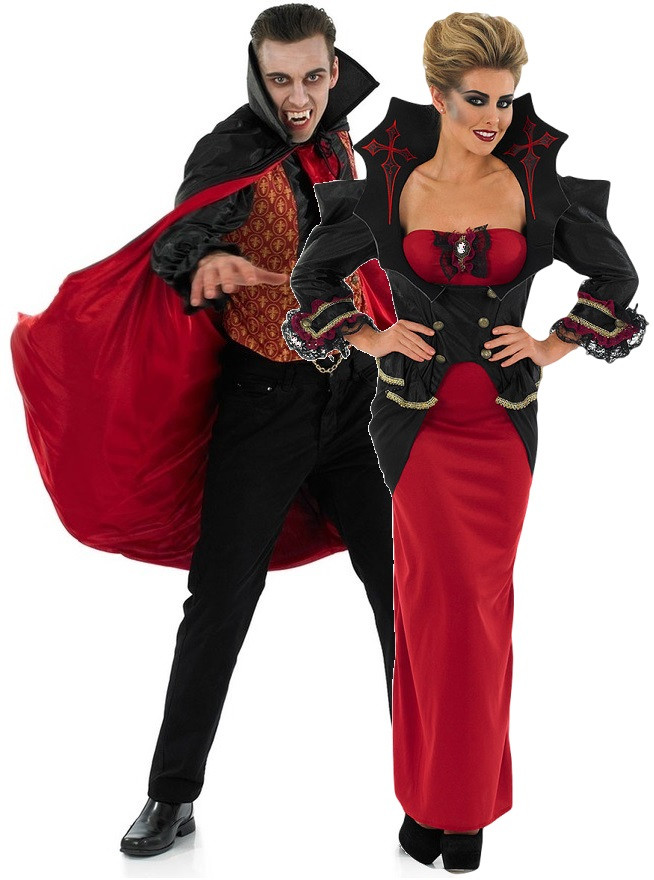 Couples V&ire Fancy Dress Costumes. Image 1  sc 1 st  Fancy Me Limited : couples vampire costumes  - Germanpascual.Com