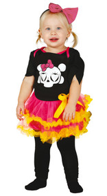 Baby Girls Day of the Dead Fancy Dress Costume