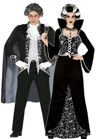 Couples Royal Vampire Fancy Dress Costumes