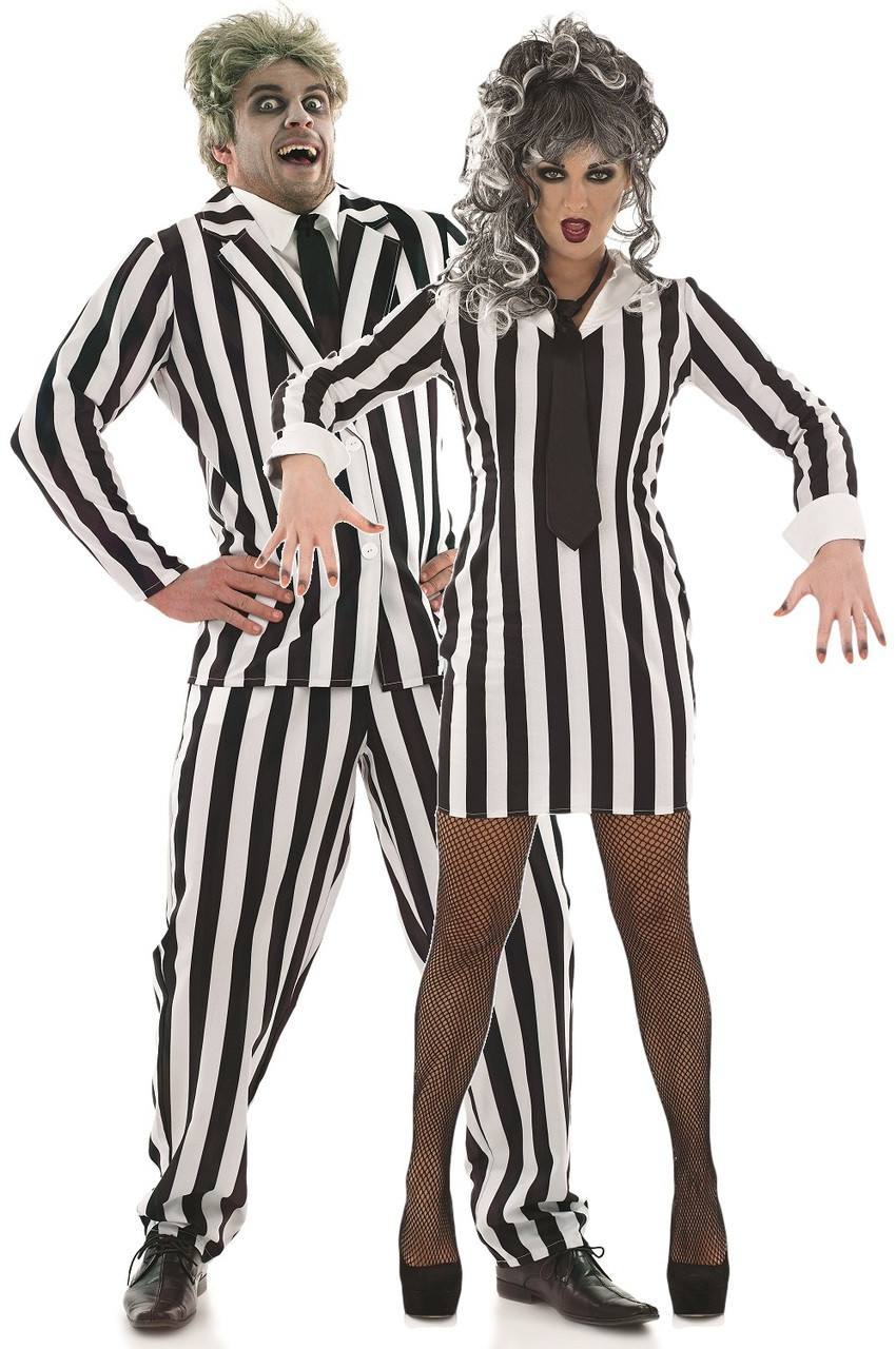 couples crazy ghost fancy dress costumes image 1