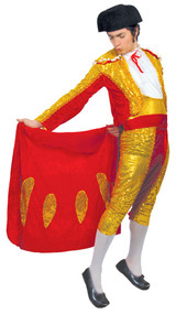 Mens Sequinned Matador Fancy Dress Costume