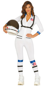 Ladies Astronaut Fancy Dress Costume