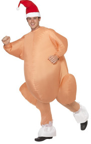 Mens Inflatable Christmas Turkey Fancy Dress Costume