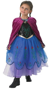 Girls Premium Deluxe Anna Fancy Dress Costume