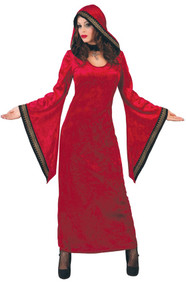 Ladies Medieval Priestess Fancy Dress Costume
