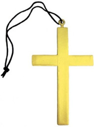 Gold Religious Cross Necklace