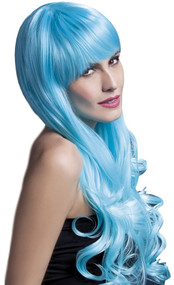 Ladies Long Blue Emily Wig
