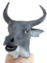 Adult Cow Fancy Dress Mask