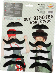 12 Pack of Self Adhesive Moustaches