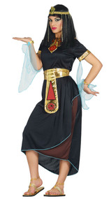 Ladies Dark Cleopatra Fancy Dress Costume