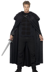 Mens Dark Barbarian Fancy Dress Costume