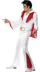 Mens Sequinned Elvis Fancy Dress Costume