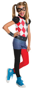 Girls Harley Quinn Fancy Dress Costume