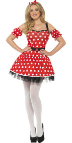 Ladies Madame Mouse Fancy Dress Costume